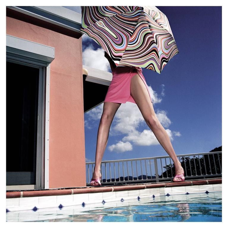 "Nicola Majocchi ""Umbrella with Legs"" Photograph 2003 St. John, V.I."