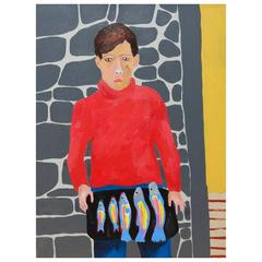 'Philip and the Fish' Portrait Painting by Alan Fears Pop Art