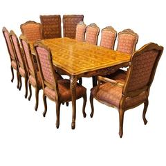 Fremarc Designs Custom Dining Set with Parquetry Top Table