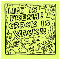 Vintage Keith Haring Hand Bill