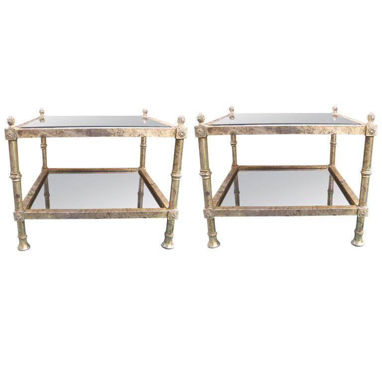 Shabby Chic Pair of End Tables