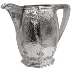Hammered Sterling Water Pitcher