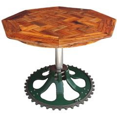 Custom Industrial Chicago Waterworks Sprocket Pub Table