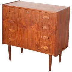 Danish Teak Lowboy Dresser