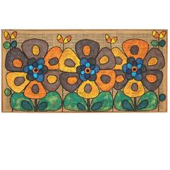Flower Power Oil Painting on Burlap