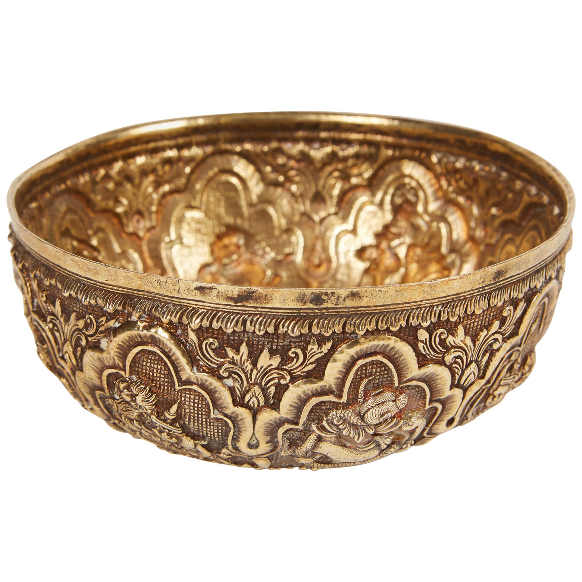Small 20th Century Indian Bowl with Relief