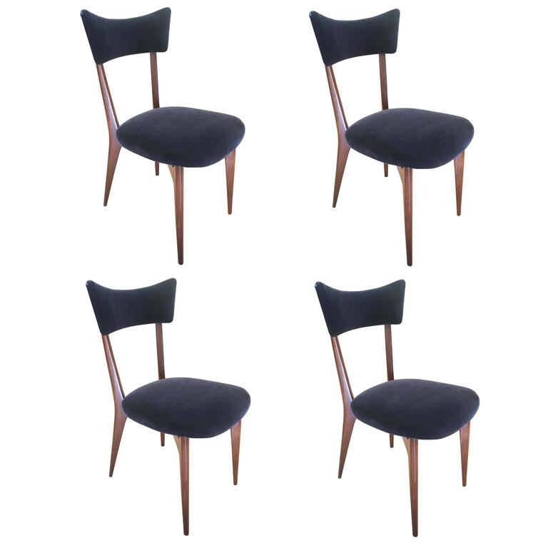 Set of Four Chairs by Ico Parisi, Italy, 1940s