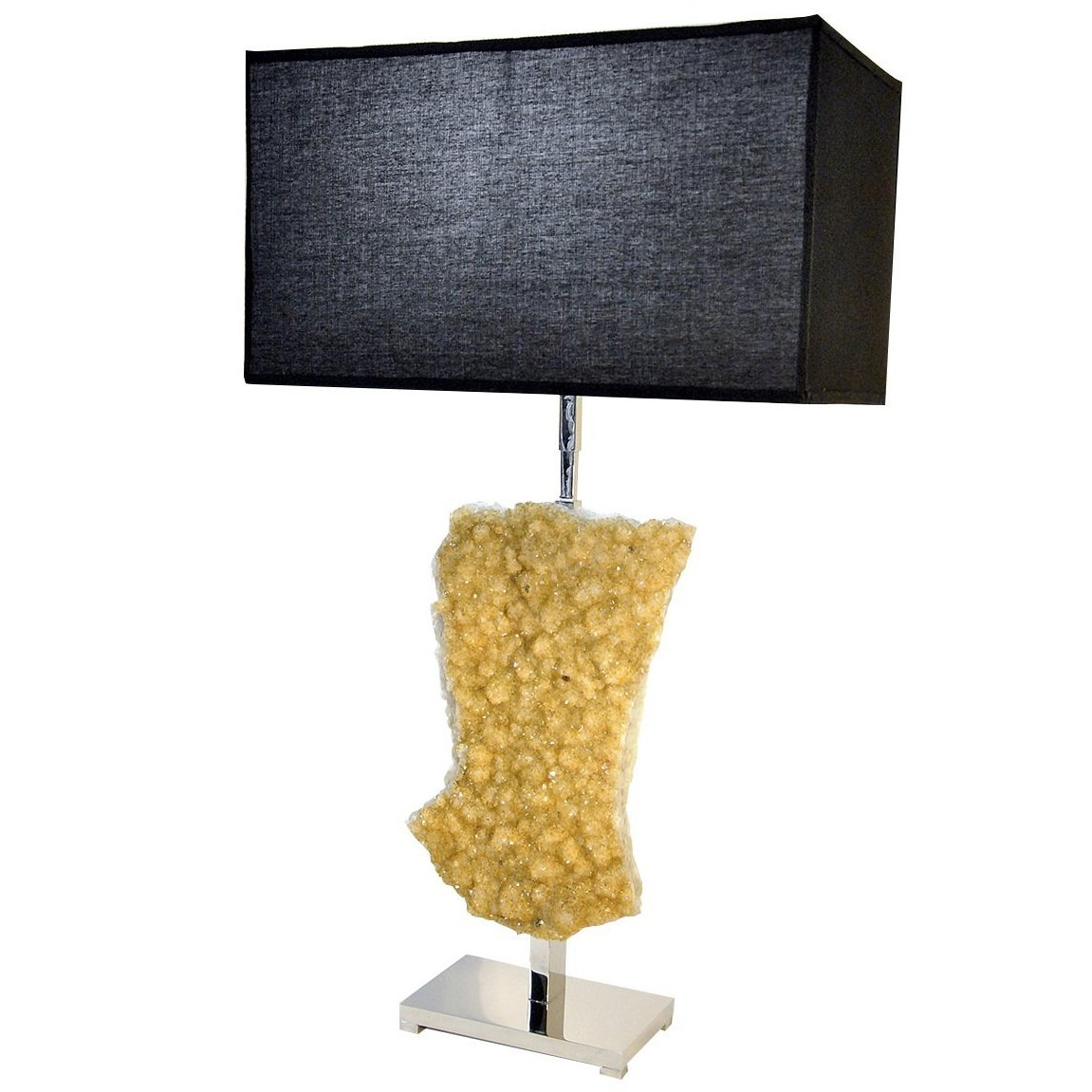 Citrine Table Lamp with Black Shades