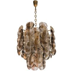 Murano Glass Chandelier Designed by J.T. Kalmar of Austria, Fabricated by Seguso