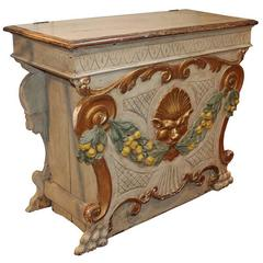 19th Century Italian Polycrome Commode with Lift Top