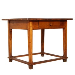 Late 19th Century Tyrol Desk/Working Table, Solid Wood Restored and Wax Finished