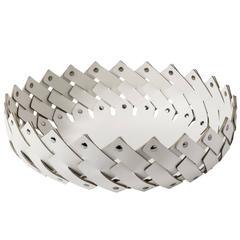 Short White 'Almeria' Basket