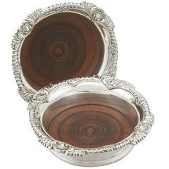 Vintage George VI Sterling Silver Coasters