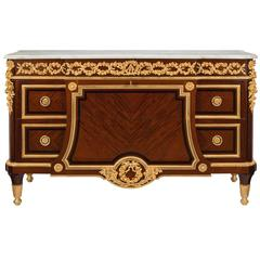 French Mid-19th Century Louis XVI St, Mahogany and Ormolu, Signed Sormani Paris