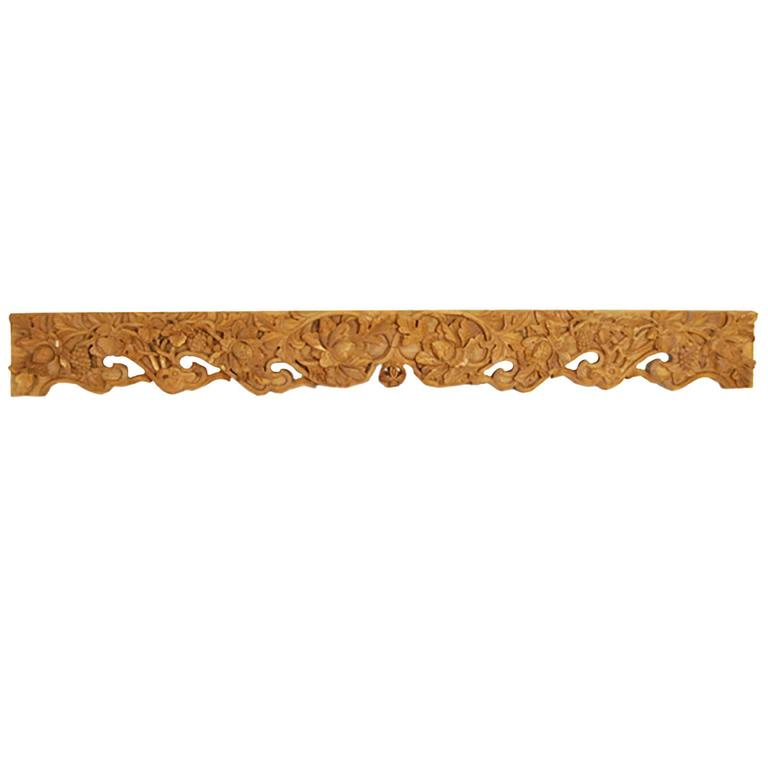 19th Century Chinese Pearl of Wisdom Valance