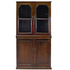 20th Century Chinese Four Door Glass Front Cabinet