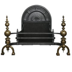 Large Reclaimed 19th Century Baroque Fireplace Basket
