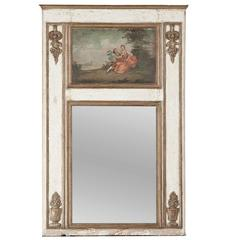 19th Century Neoclassical French Louis XVI-Inspired Trumeau