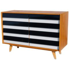 Black and White Striped Chest of Drawers by Jiri Jiroutek, circa 1960s