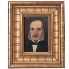 19th Century Framed French Oil Portrait