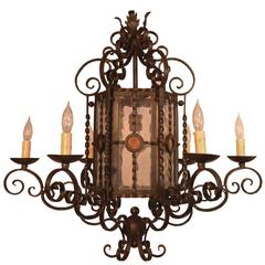 Spanish colonial chandeliers and pendants 72 for sale at 1stdibs spanish style wrought iron aloadofball Image collections