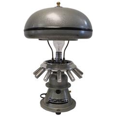 Re-Purposed Vintage 1950s Industrial Scientific Centrifuge Table Lamp Light