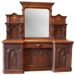 Flemish Renaissance Revival Sideboard or Dry Bar, circa 1850
