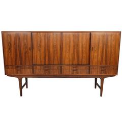 Tall Brazilian Rosewood Credenza