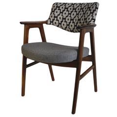 Erik Kirkegaard Chair, Refurbished and reupholstered.
