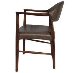 Kurt Olsen Chair, fully refurbished and with new Italian Leather