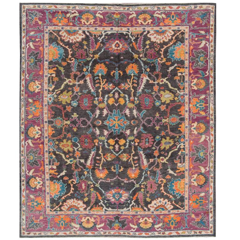 Nice looking modern turkish oushak rug for sale at 1stdibs for Nice rugs for sale
