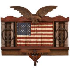 Forever She Waves #2 Folk Art Assemblage Mechanical American Flag
