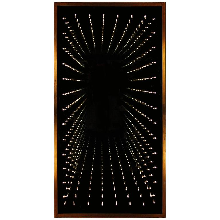 Authentic and Original 1970s Infinity Mirror 1