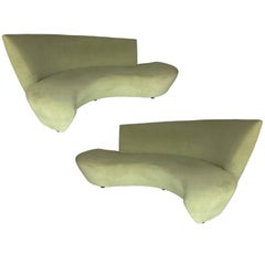 Rare Bookmatched Pair of Bilbao Sofas by Vladimir Kagan