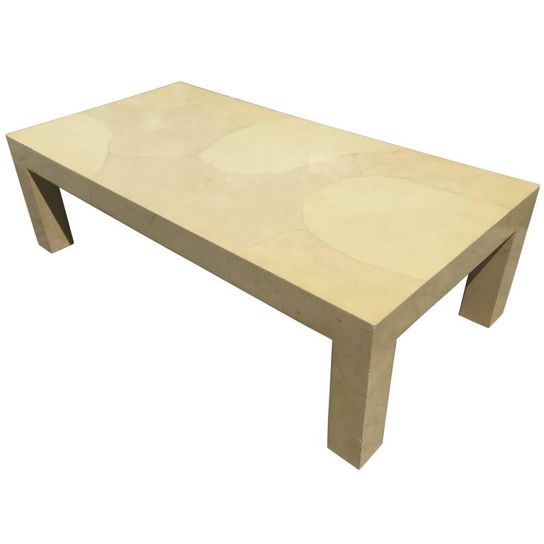 Parchment Coffee Table In The Style Of Karl Springer For Sale At 1stdibs