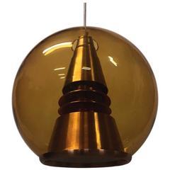 Norwegian Space Age Midcentury Modern Pendant Globus Lamp