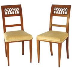 Pair of Italian Neoclassical Side Chairs, circa 1820