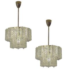 Pair of Crystal Chandeliers by Austrolux of Austria circa 1960