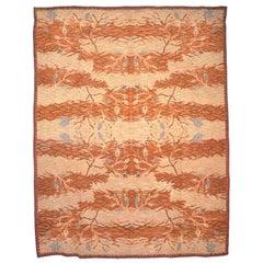 Whimsical Vintage Mid-Century Modern Wool Kilim Rug with Tiger Pelt Pattern