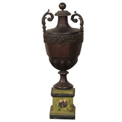 Early 19th Century Probably French Tole Fountain, Faux Porphry Finish