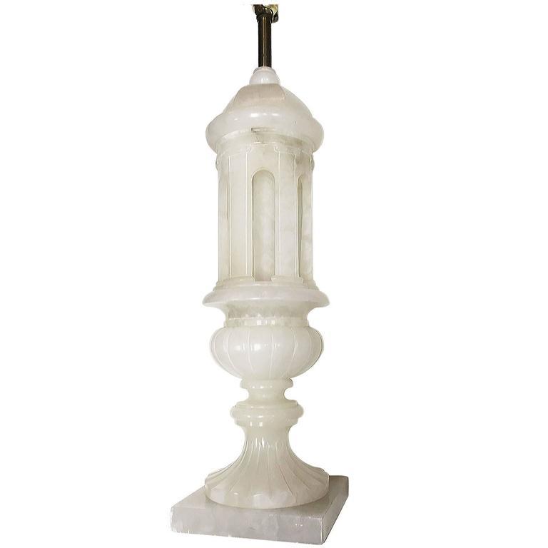Large Alabaster Table Lamp