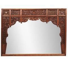 Massive Asian Ornate Mirror