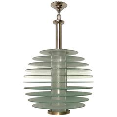 Glass Moderne Style Light Fixture