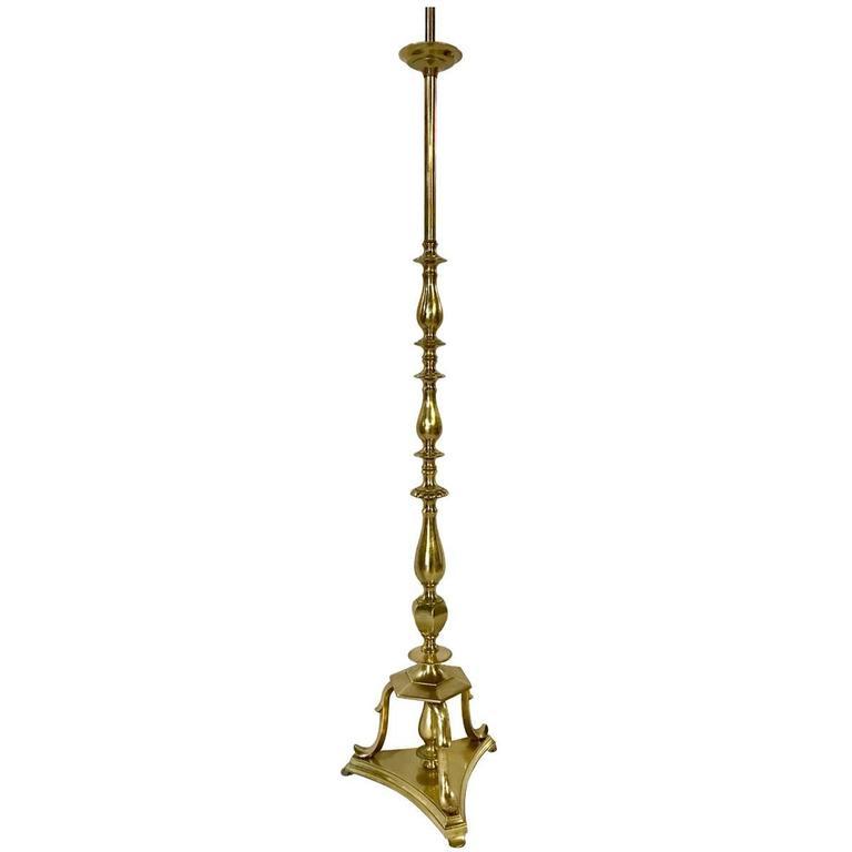 Neoclassic Gilt Bronze Floor Lamp