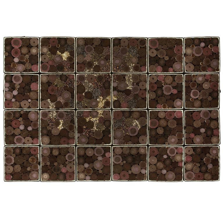 """Steven and William Ladd """"Chocolate"""" in Beads, Fabric and Board Boxes, 2013"""