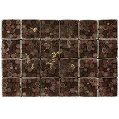 "Steven and William Ladd ""Chocolate"" in Beads, Fabric and Board Boxes, 2013"