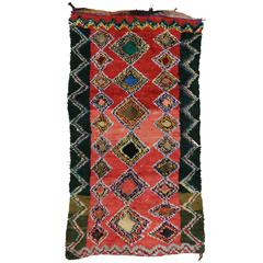 Boho Chic Vintage Berber Moroccan Rug with Modern Tribal Design
