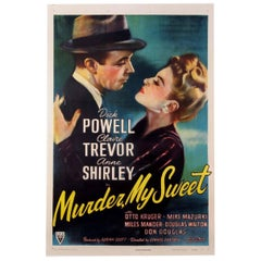 """Murder, My Sweet"" Film Poster, 1944"