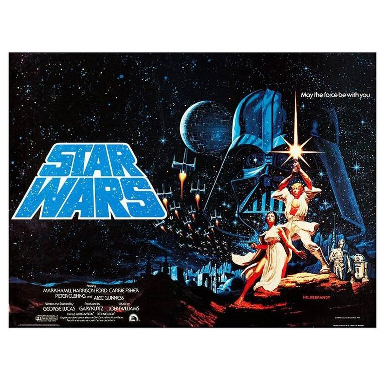 Quot Star Wars Quot Film Poster 1977 For Sale At 1stdibs