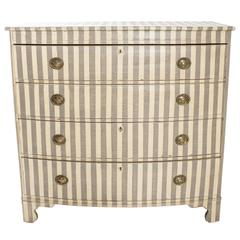 Striped Bow Front Chest
